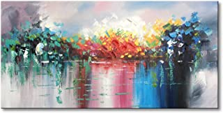 Abstract Landscape Canvas Wall Art Handmade Modern Oil Paintings Lake Scenery Picture