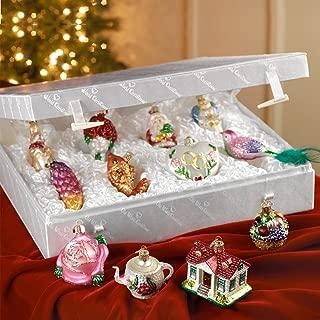 Old World Christmas Merck Family's Bride's Tree Ornaments & Metal Display Tree