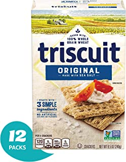 Triscuit Original Crackers, 9 Ounce (Pack of 12)