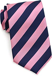 Bows-N-Ties Men's Necktie Business Striped Microfiber Satin Tie 3.25 Inches