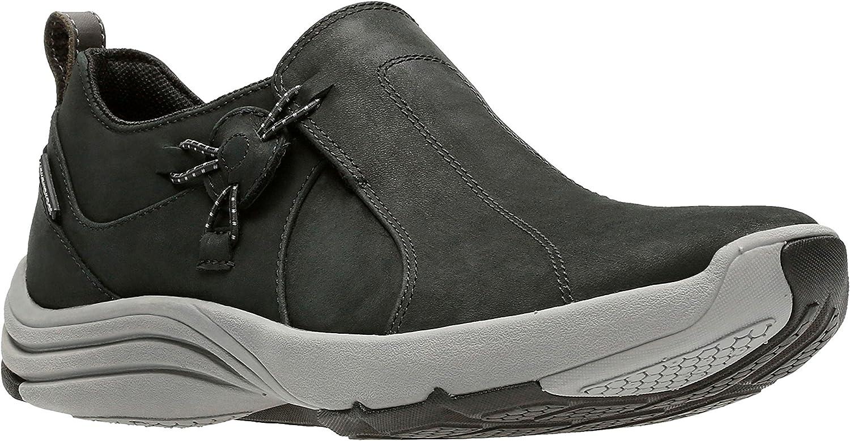 Clarks Womens Wave River Waterproof Sneaker Black