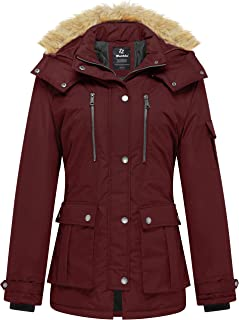 Wantdo Women's Thicken Parka Coat Winter Warm Puffer Jacket with Removable Hood