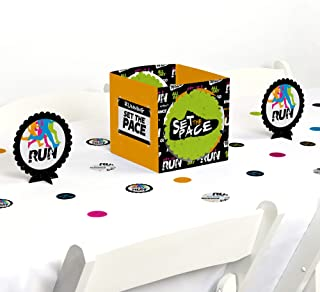 Big Dot of Happiness Set the Pace - Running - Track, Cross Country or Marathon Party Centerpiece and Table Decoration Kit