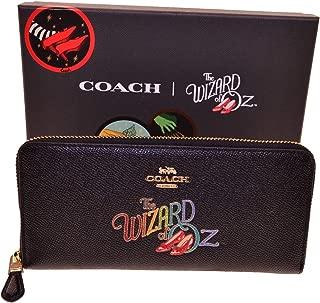 Coach Wizard of Oz Slim Accordion Zip clutch Boxed Black