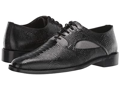Stacy Adams Ricoletti Leather Sole Plain Toe Oxford (Black/Gray) Men