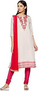Rangmanch by Pantaloons Women's Straight Salwar Suit Set