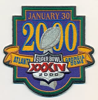 Super Bowl XXXIV Official Patch St Louis Rams vs Tennessee Titans at Georgia Dome