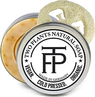 SET Yello Vera Naturseife | Seife für empfindliche Haut | Premium Gesichtsseife Naturkosmetik | Gratis Seifenbox  Seifenablage | von Two Plants