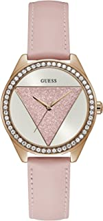 GUESS Womens Quartz Watch, Analog Display and Leather Strap - W0884L6