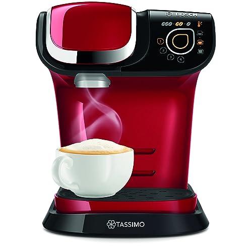 Bosch TAS6003GB Tassimo Coffee Machine, 1500 W, 3.3 Bar, Red