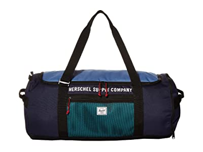 Herschel Supply Co. Sutton Carryall (Peacoat/Riverside/Black/Tile Blue) Duffel Bags