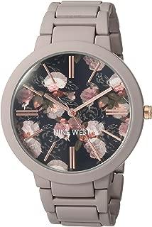 Nine West Women's NW/2096BKGY Matte Mauve Rubberized Bracelet Watch