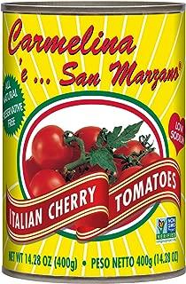 Carmelina San Marzano Italian Cherry Tomatoes (Pomodorini) in Puree, 14.28 ounce (Pack of 12)