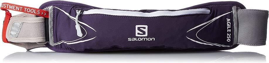 SALOMON, Unidad de cinturón, Unisex, Estrecho Cintura, Incluye 250ml Botella, Regulable de 60a 120cm del Envío, Agile 250Belt Set, Lila, l39333900