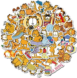 Garfield Cat The Movie Stickers for Water Bottles 50 Pack Cute,Waterproof,Aesthetic,Trendy Stickers for Teens,Girls Boys P...
