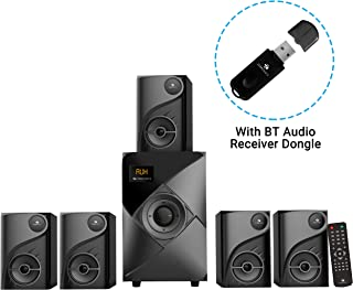 Zebronics Zeb -SW6760RUCF 5.1 Multimedia Speaker with Blutooth Supporting via Dongle,USB Input,AUX Input and FM Radio(Black)