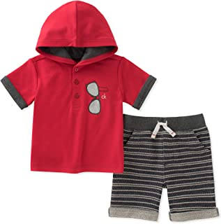 Calvin Klein Baby Boys 2 Pieces Hooded Shorts Set
