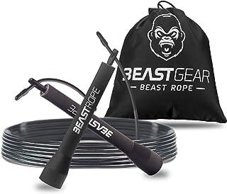 Beast Gear Springtouw voor volwassenen - Fitness Speed Rope - indoor / outdoor springtouw voor uithoudingsvermogen, afvall...