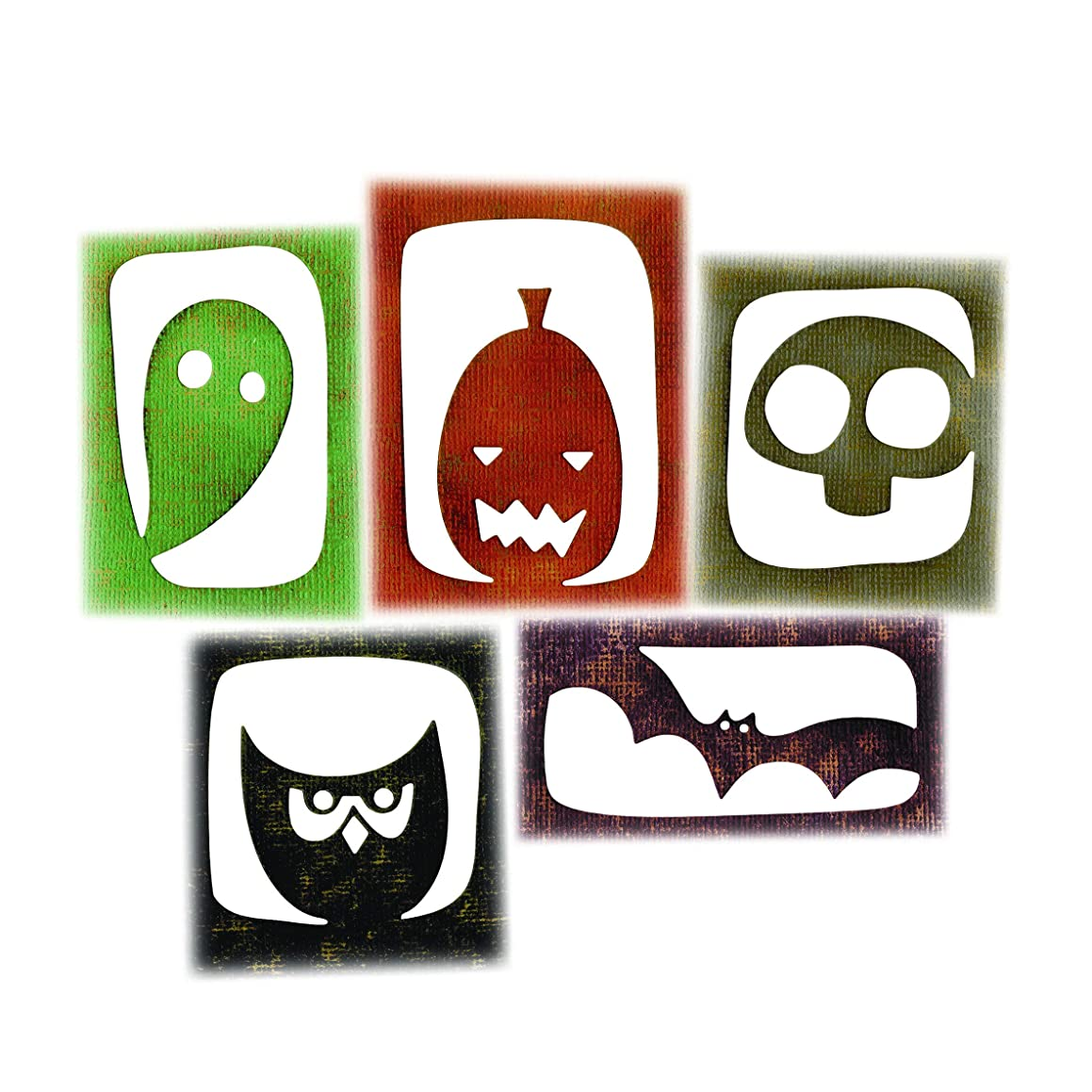 Sizzix 663088 Thinlits Dies Halloween Hangouts by Tim Holtz, 5-Pack, One Size, Multicolor