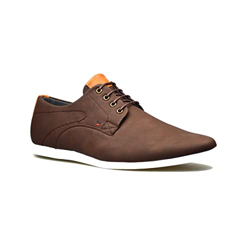 ClassyDude Mens New Casual Black Leather Smart Suede Formal Lace Up Shoes UK  Sizes 6 7 38664fd8102b