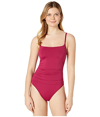 La Blanca Island Goddess Lingerie Mio One-Piece (Wine) Women