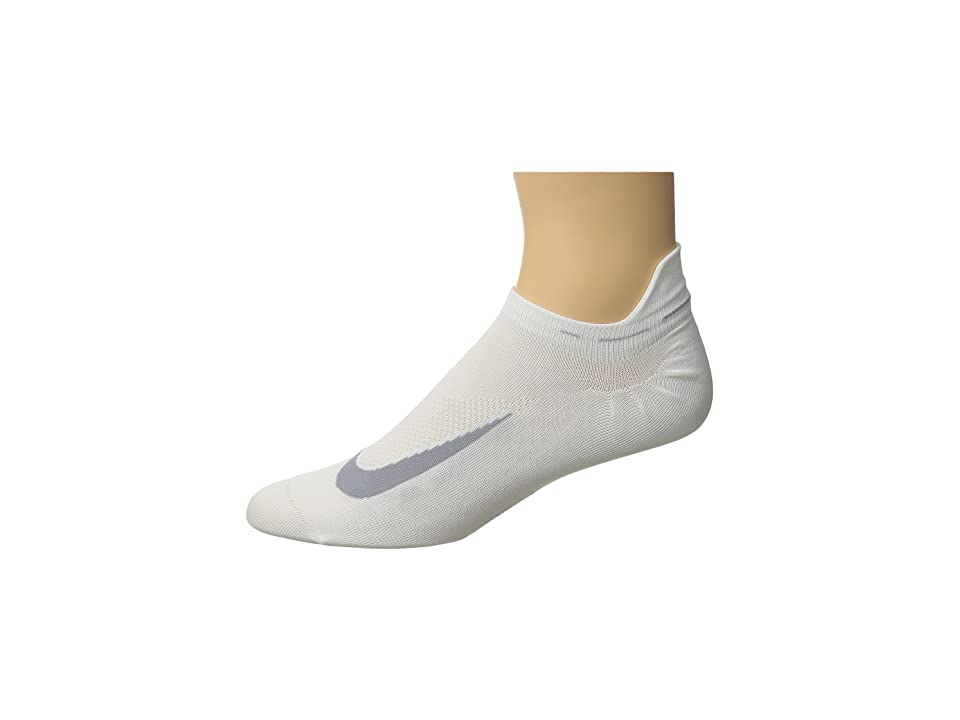 Nike Elite Running Lightweight No Show (White/Wolf Grey/Wolf Grey) No Show Socks Shoes