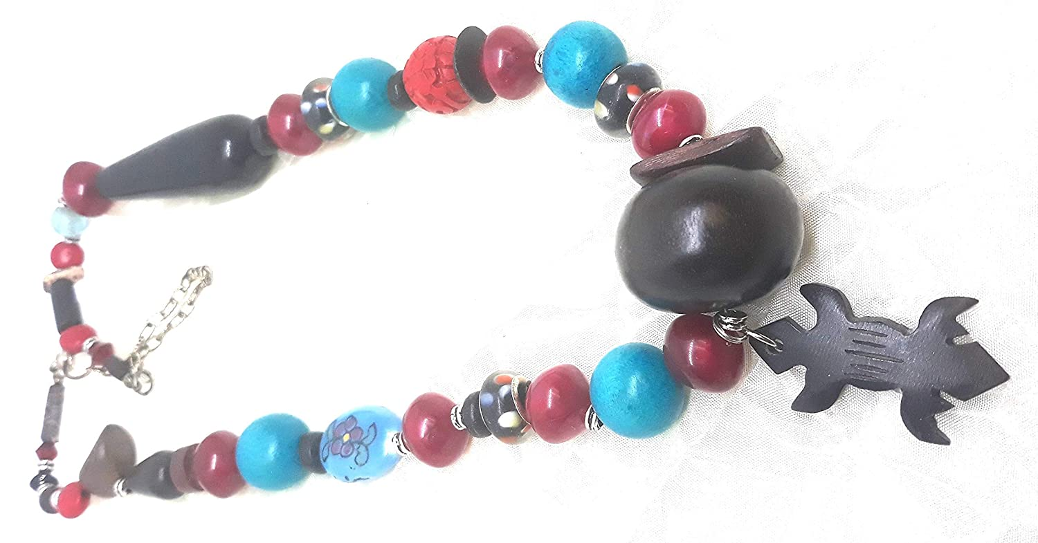Wild wonky wood turquoise Ranking TOP4 and cranberry black with Choke sold out lizard