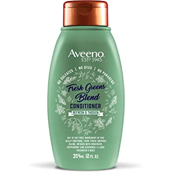 Aveeno Scalp Soothing Fresh Greens Blend Conditioner, Peppermint 12 Fl Oz