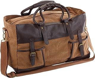 Xcase Weekender: Canvas-Reisetasche mit 2 Außentaschen und Schultergurt, 30 Liter Reisegepäck