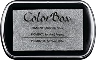 YPSelected Craft Ink Pad Inkpad for Paper Wood Fabric 15 Colors Available for Rubber Stamps Silver