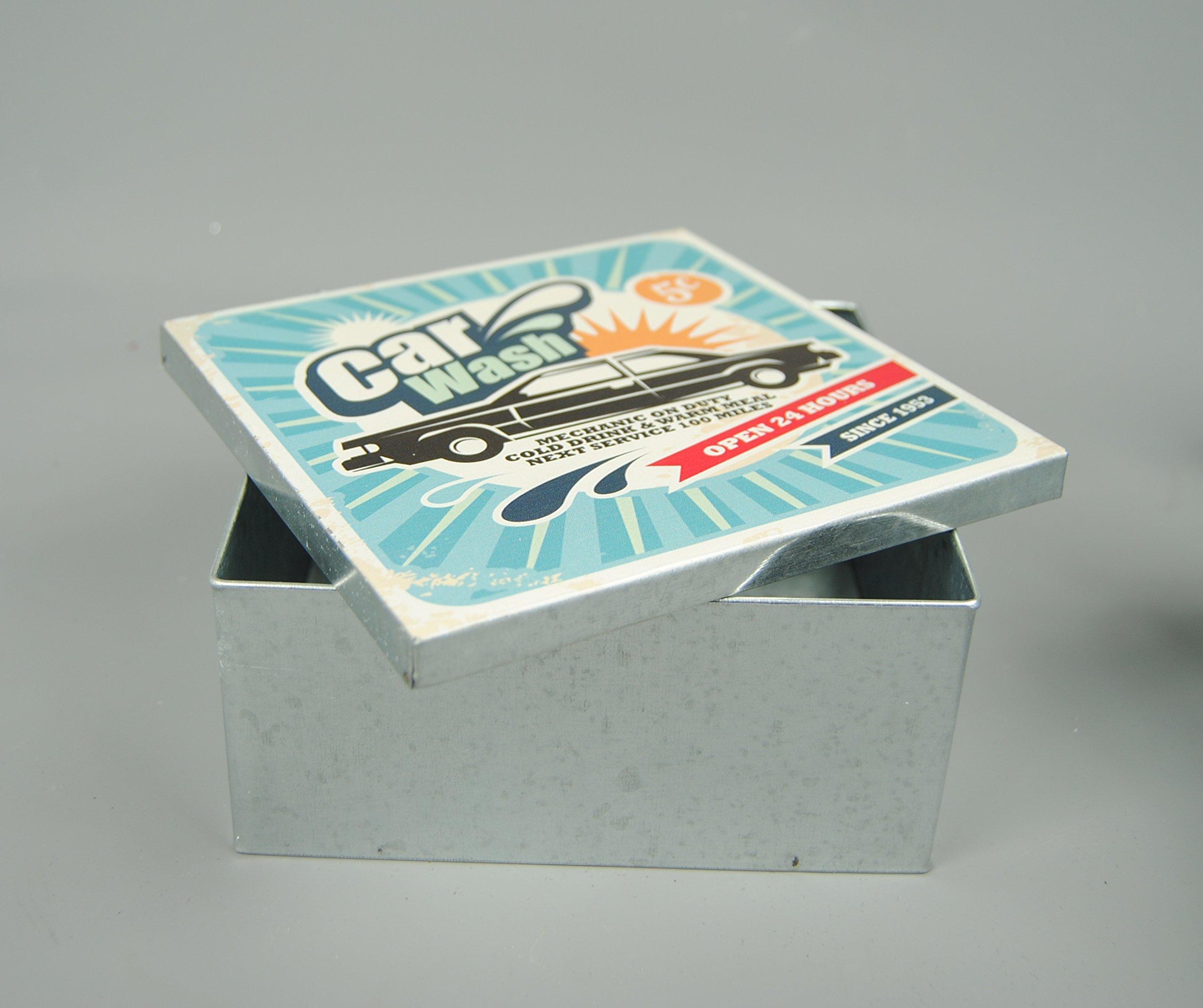 Caja metálica diseño Vintage Nik Nak caja de tornillo llave para ...