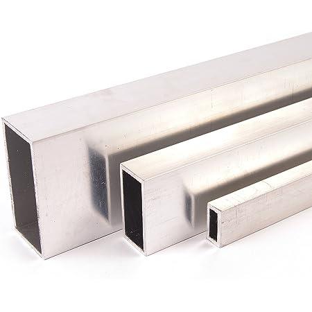 2000 mm +//-5 mm B/&T Metall Aluminium Rechteckrohr 020x020x02 mm/ aus AlMgSi0,5 F22 schweissbar eloxierf/ähig L/änge ca 2 mtr.