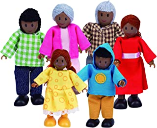 Hape Happy Doll Family - African-American, (Set of 6)