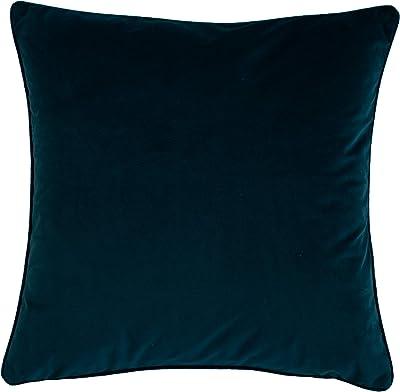 Homing Samt-Kissenhülle Kissenbezug Einfarbig Dekokissen Petrol, uni (1 Stück) 45x45 cm dekorativer Kissenbezug, 5393-07
