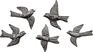 Haitian Hands 'Mini Flock of Birds - Set of 5' Haitian Handcrafted Metal Art Made from Recycled Steel Barrels