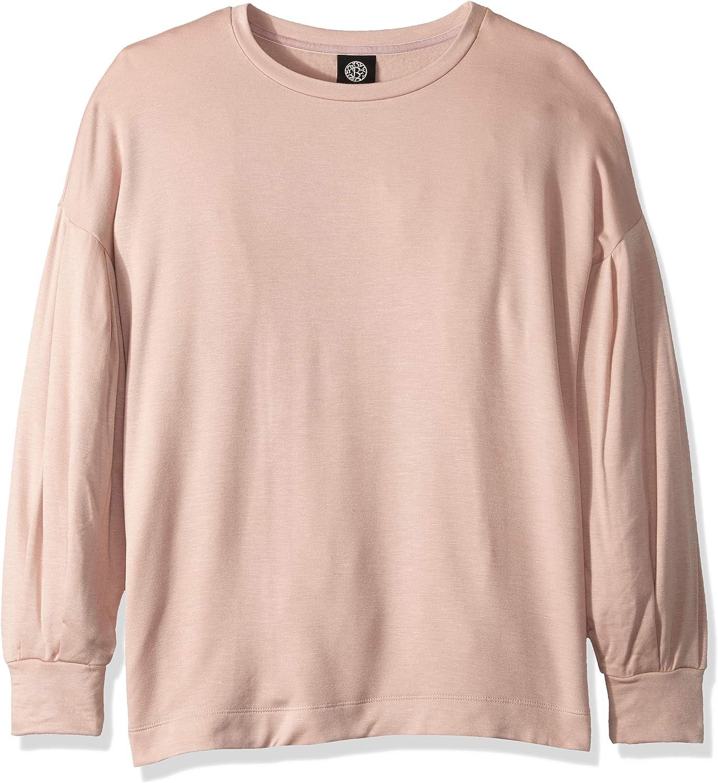 Bobeau Women's Apparel Womens Puff Sleeve Sweatshirt Sweatshirt