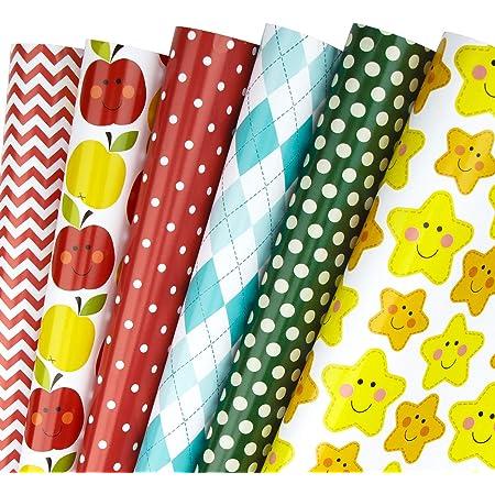 RUSPEPA Rouleau De Papier DEmballage 4 Rouleaux Papier Vert Avec /Éclat M/étallis/é Paillet/é 76cm X 305cm Par Rouleau
