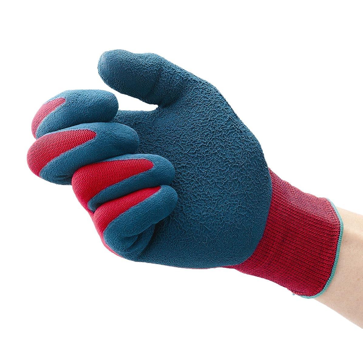 バラバラにするキッチンレッスンダンロップホームプロダクツ デジハンド パワフルフィット レッド L 作業用手袋 細かな作業に