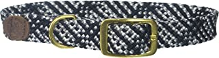 "Mendota Double-Braid Collar, Salt & Pepper, 1"" Up to 24"""