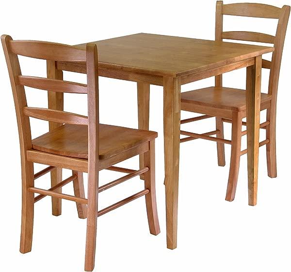Winsome Groveland 3 Piece Wood Dining Set Light Oak Finish