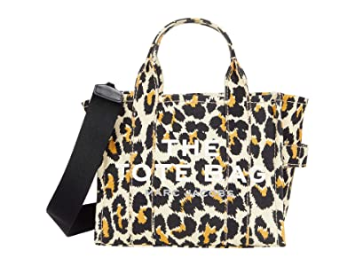 Marc Jacobs Leopard Mini Traveler Tote (Natural Multi) Tote Handbags
