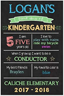 First Day of School Chalkboard Stats Sign Back to School Photo Prop Poster