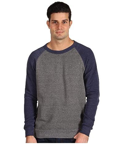 Alternative The Champ Colorblock Sweatshirt (Eco Grey/Eco True Navy) Men
