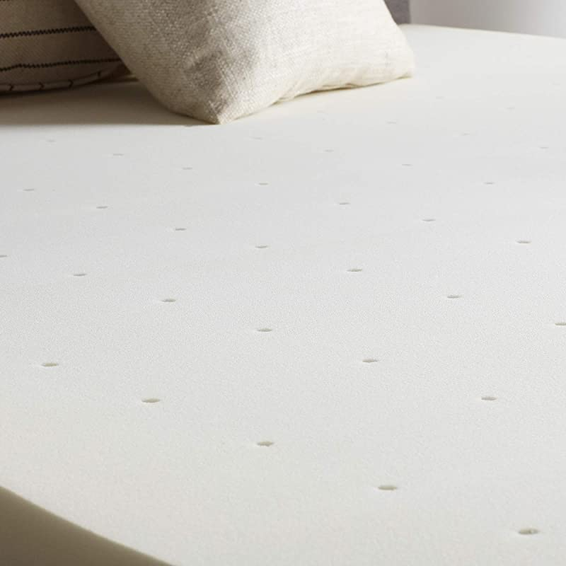 LUCID 2 Inch Traditional Foam Mattress Topper Ventilated Twin XL