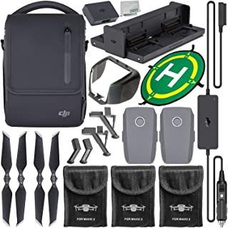 DJI Mavic 2 Fly More Kit with Starter Accessory Bundle – Includes: 3X Protective Battery Bag + Landing Gear Extensions/Stabilizers + Lens Hood + Landing Pad + Microfiber Cleaning Cloth