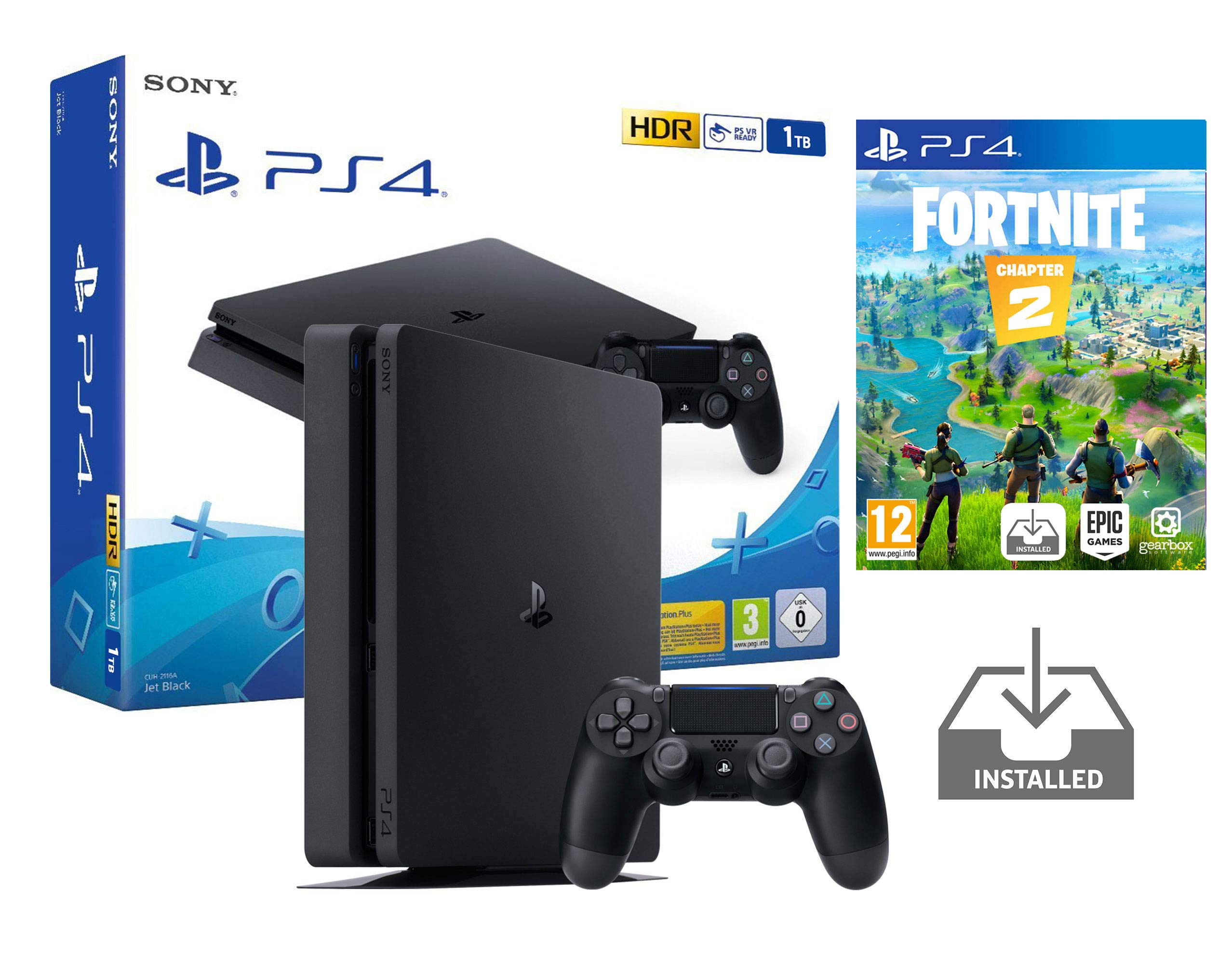 PS4 Slim 1Tb Negra Playstation 4 Consola Pack + Fortnite: Battle Royale [Preinstalado]: Amazon.es: Videojuegos