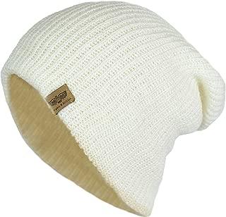 Elliott and Oliver Co. Men's Basic Reversible Slouch Beanie- Long Hipster Oversized Ribbed Knit Winter Skull Hat