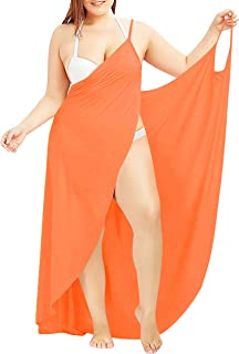 3a343c2aca4f8 Fancy Clothing Plus Size Sexy Women Spaghetti Strap Cover up Beach Backless  Wrap Long Dress