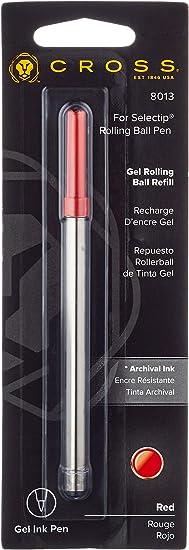 Red Cross Gel Rolling Ball Refill for Selectip Pens 8013