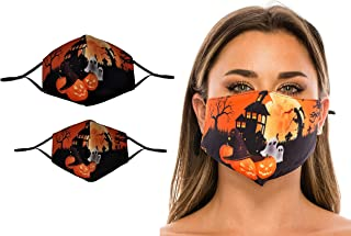 Beyond Trim 2 Pack Adult Kids Set Halloween Face Covering Fabric Cloth Protection Cover Reusable Washable Breathable